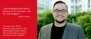 Master Wirtschaftsingenieurwesen berufsbegleitend studieren - Interview mit Stefan Kanow