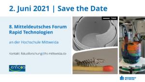"""8. Mitteldeutsche Forum Rapid Technologien """"3D-Druck in der Anwendung"""""""