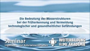 Die Bedeutung der Wasserstrukturen bei der Früherkennung und Vermeidung technologischer und gesundheitlicher Gefährdungen